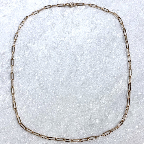 RG Paperclip Chain Choker Necklace NS041-RG