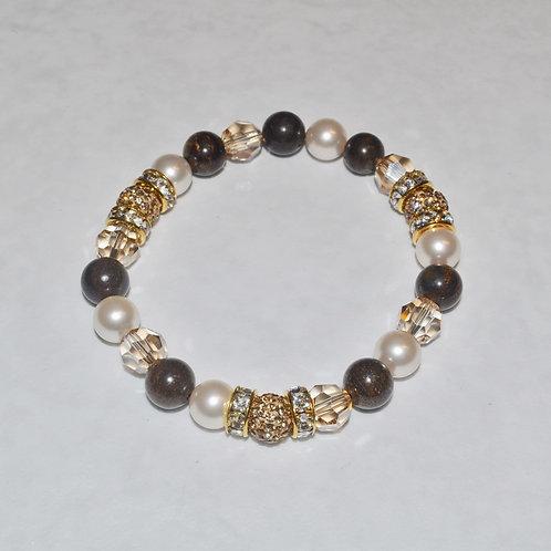 Triple Pave' Ball Stretch Bracelets B074-GF
