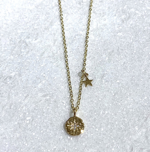 GF Starburst & Star Necklace NS055-GF