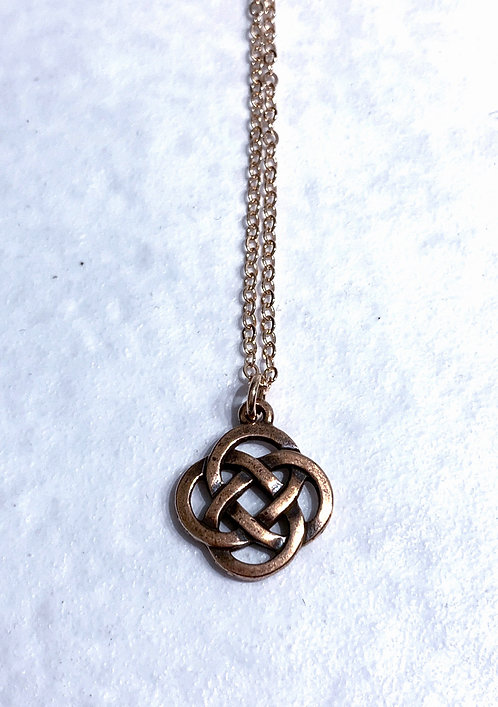 Rose Gold Celtic Knot Necklace NS030-RG