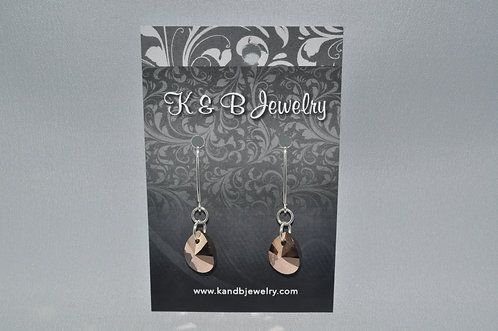 Rose Gold Pear Earrings  EM022-SS