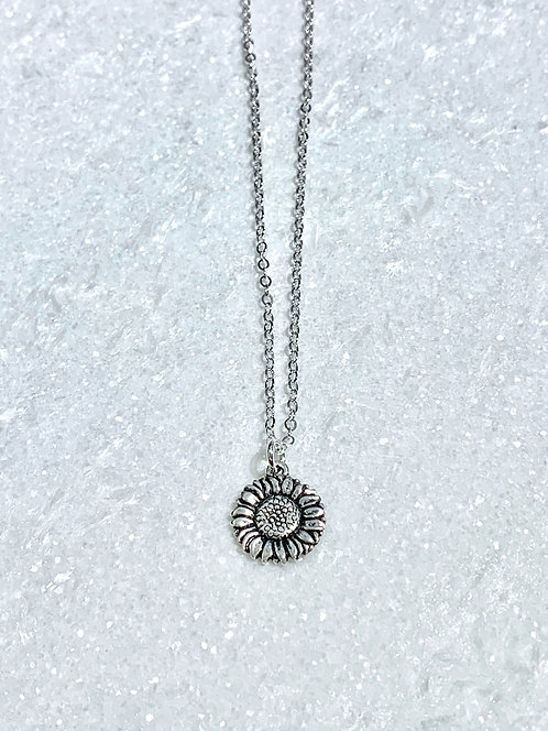 Sunflower Necklace NS178-SS