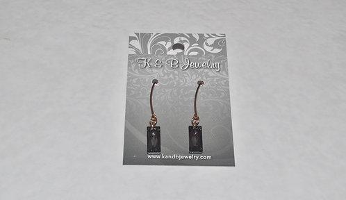Swarovski Crystal Baguette Earrings E018-RG