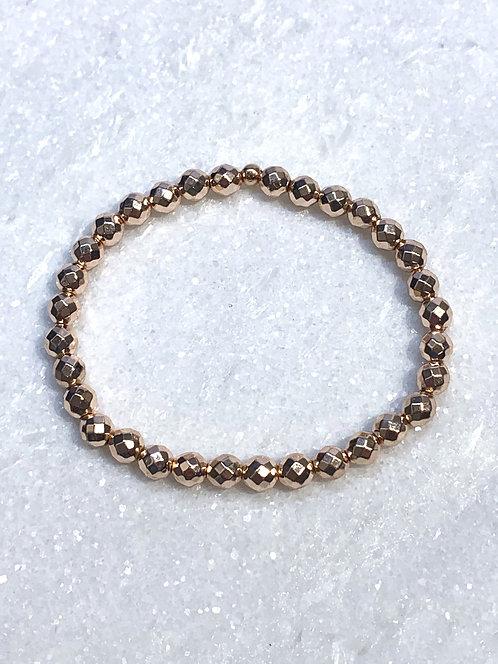 RG Faceted Hematite Stretch Bracelet B081-RG