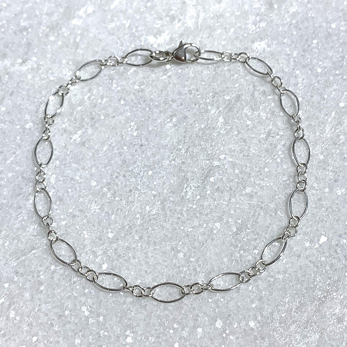 SS Long + Short Chain Bracelet B376-SS