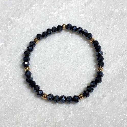 Navy Shimmer Stretch Bracelet B105-RG
