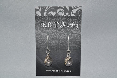 Golden Shadow Pear Earrings  EM021-SS