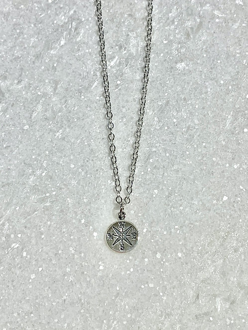 SS Compass Necklace NS174-SS