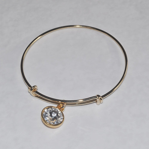 Gold Expandable Bracelet - B037-GF