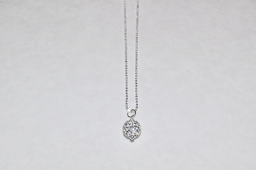 Crystal Pave' Ball Necklace  NS077-SS