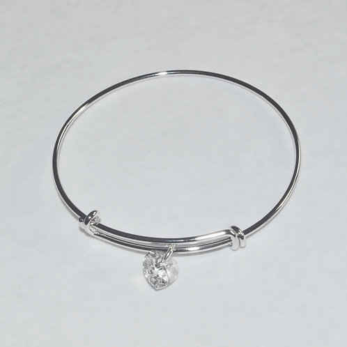 Silver Expandable Bracelet - B081-SS