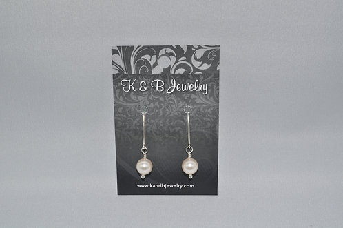 Cream Pearl Earrings  EM031-SS