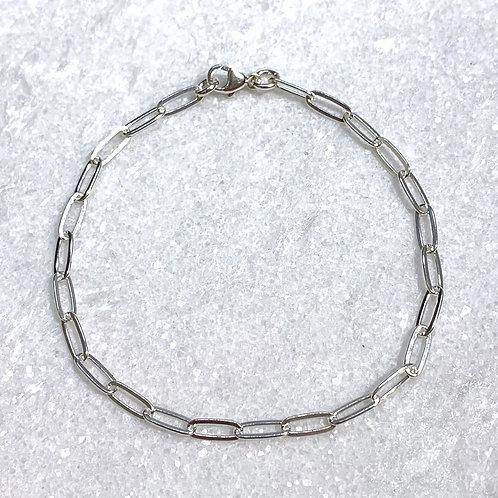 SS Paperclip Chain Bracelet B395-SS