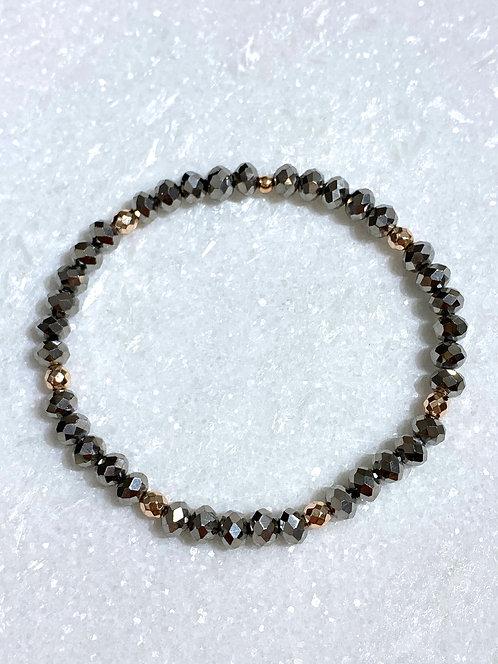 Silver Shimmer Stretch Bracelet B097-RG