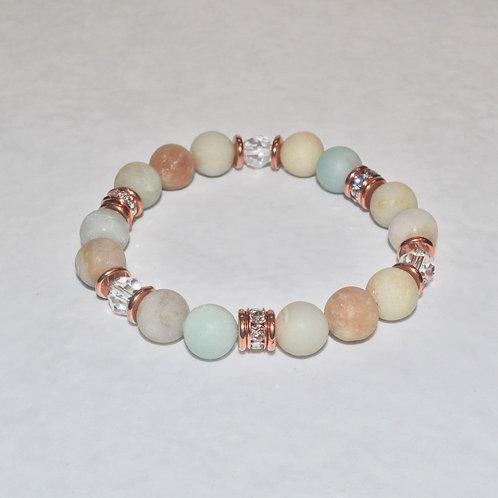 Amazonite Stretch Bracelet (10mm) B054-RG
