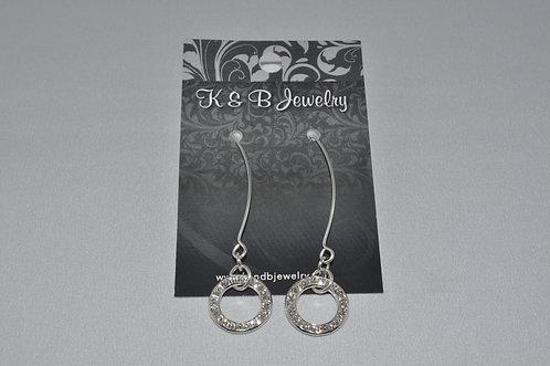 Crystal Circle Earrings  EL002-SS