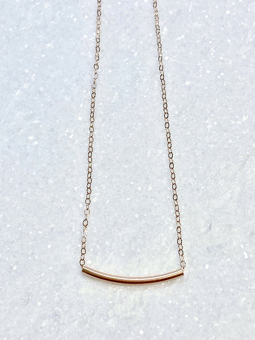 Rose Gold Tube Necklace NS023-RG