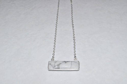 Howlite Rectangle Necklace NS101-SS