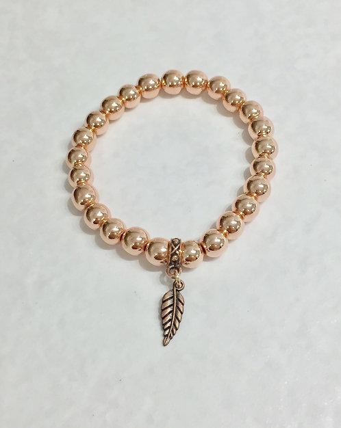 Rose Gold Hematite Bracelet B051-RG