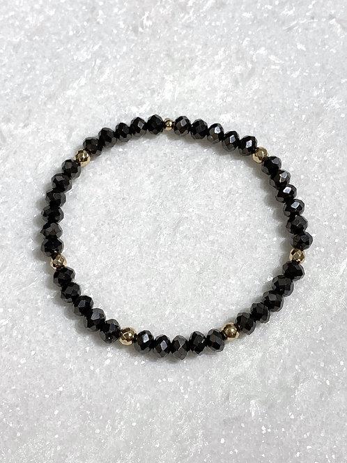 Black Shimmer Stretch Bracelet B094-RG