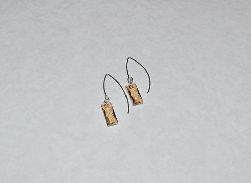 Golden Shadow Baguette Earrings EM075-SS