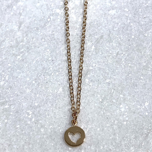 RG Open Heart Necklace NS024-RG