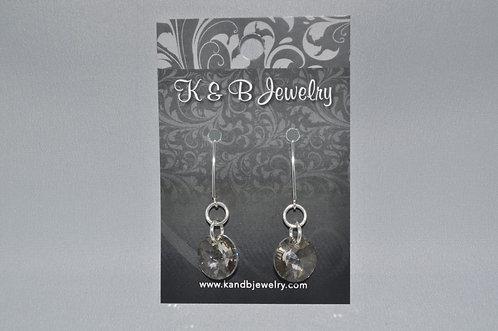 Crystal Silver Shade Xilion Earrings  EM038-SS