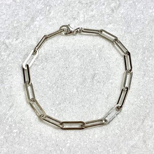 Paperclip Chain Bracelet B374-SS