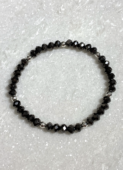Black Shimmer Stretch Bracelet B381-SS