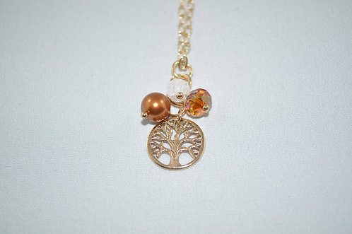 Gold Tree of Life Pendant Necklace   NS002-GF