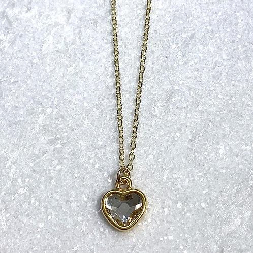 GF Heart/Crystal Necklace NS060-GF