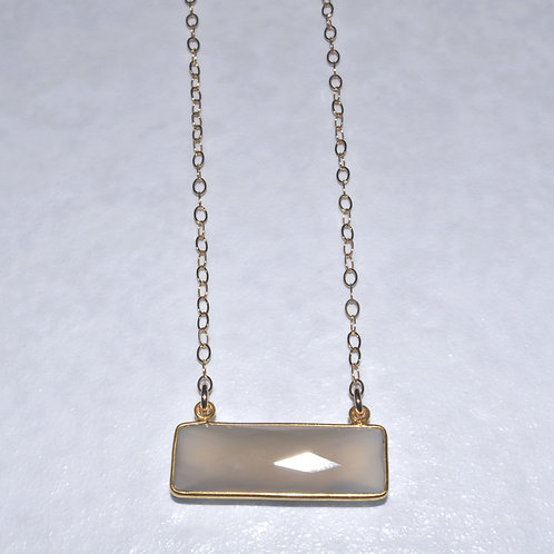 Chalcedony Rectangle Necklace NS013-GF
