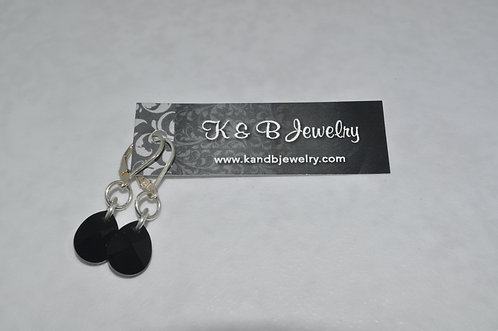 Black Xilion Pear Earrings  ELB019-SS