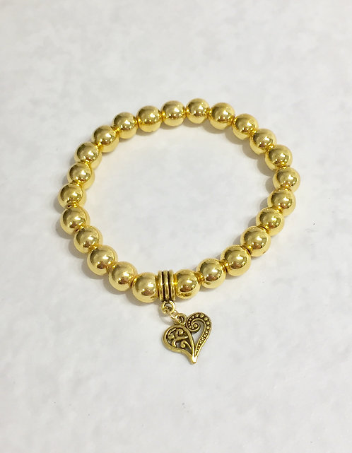 Gold Hematite Bracelet B092-GF