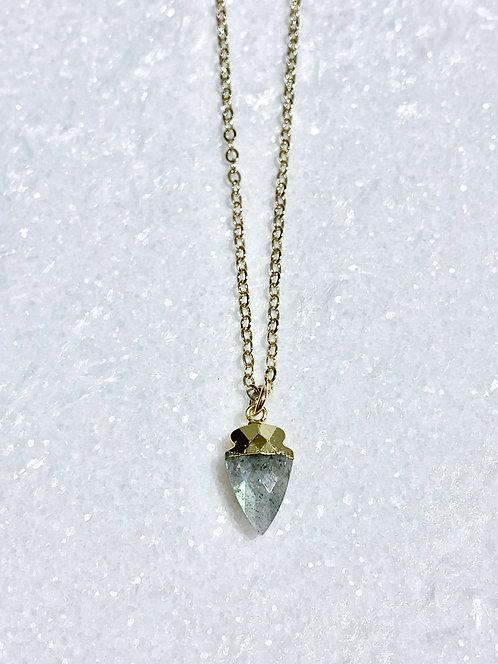 GF Labradorite Mini Arrowhead Necklace NS050-GF