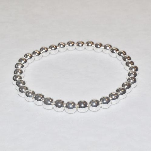 Silver Hematite Stretch Bracelet - B285-SS