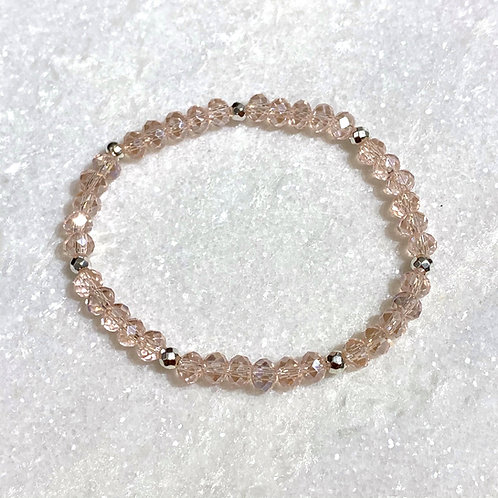 Pink Shimmer Stretch Bracelet B382-SS