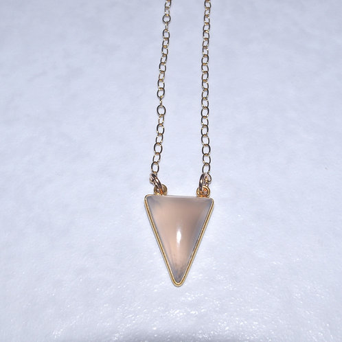 Chalcedony Triangle Necklace NS016-GF