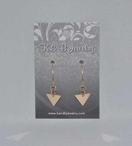 Gold Triangle Earrings  EM027-GF