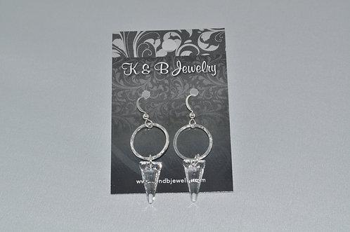Crystal Spike & Circle Earrings  ESB014-SS
