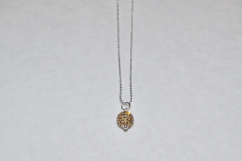 Gold Crystal Pave' Ball Necklace  NS084-SS