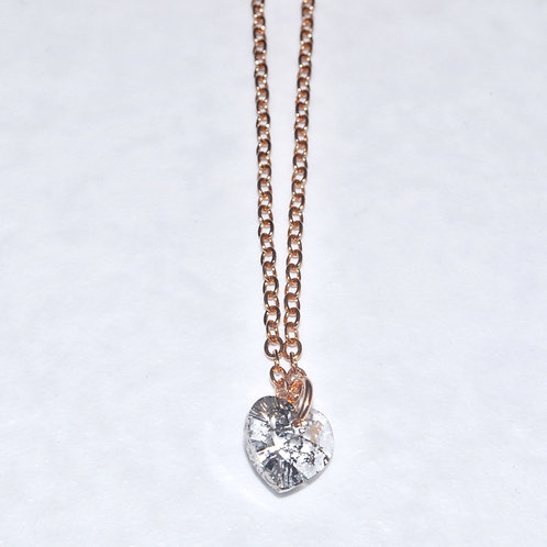 Rose Patina Heart Necklace NS006-SS
