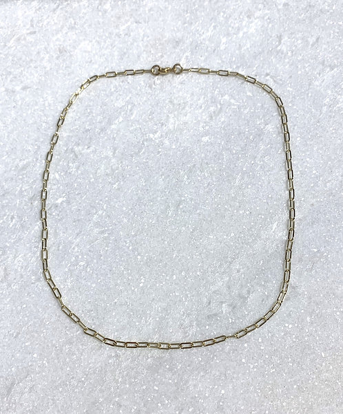 GF Paperclip Choker Necklace NS057-GF