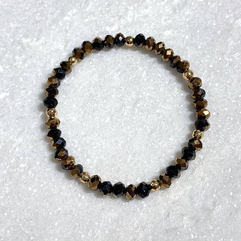 Red Copper/Bk Shimmer Stretch Bracelet B146-GF