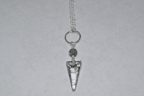 Silver Patina Spike Necklace  NL069-SS