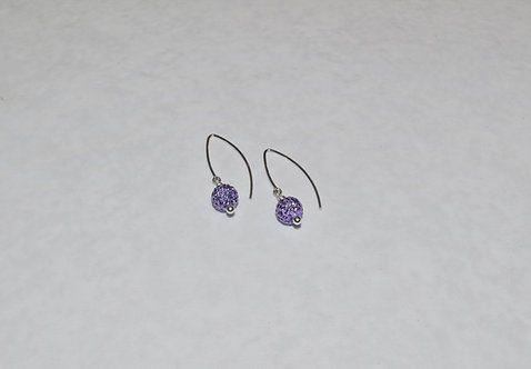 Tanzanite Pave' Ball Earrings EM088-SS