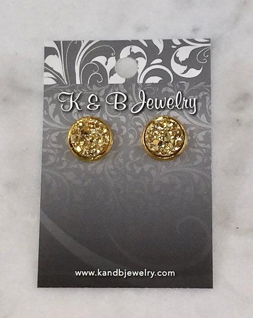 Gold Druzy Studs  EST029-GF