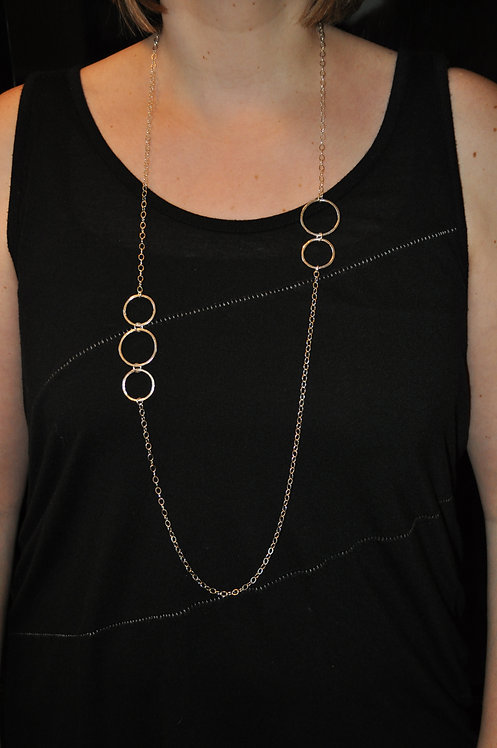 5 Circle Necklace - NL030-SS