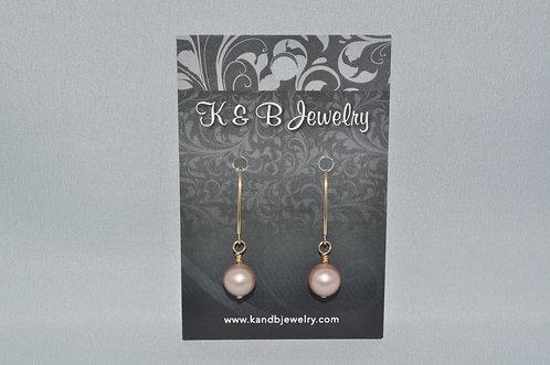 Almond Pearl Earrings  EM005-GF