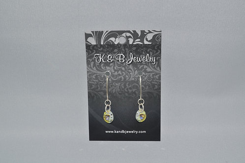 Aurora Borealis Pear Earrings  EM003-SS
